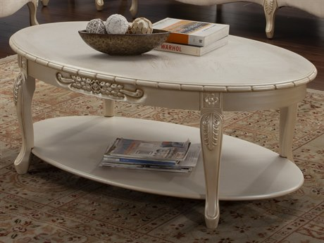 Benetti's Italia Furniture Bella 53'' Wide Oval Coffee Table BFBELLACOCKTAILTABLE