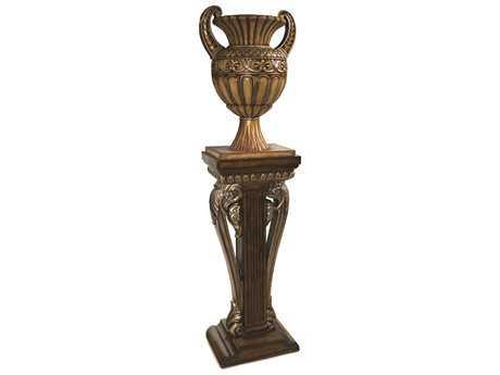 Benetti's Italia Furniture Bibiana Pedestal With Urn BIBIANAPEDESTALWITHURN