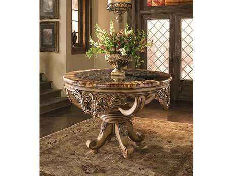 Benetti's Italia Dynasty 56'' x 56'' Foyer Table with Bamboo Ring Top BFDYNASTYFOYERTABLEWITHBAMBOORINGSTOP
