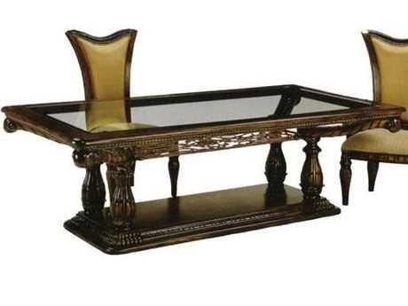 Benetti's Italia Furniture Montecarlo Dining Table with Glass Top BFMONTECARLODININGTABLEWITHGLASSTOP
