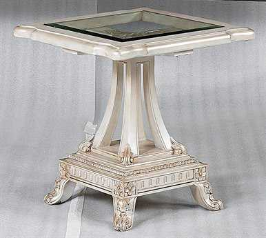 Benetti's Italia Furniture Perla 25'' Square End Table BFPERLAENDTABLE