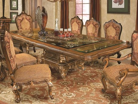 Benetti's Italia Furniture Regalia 130 x 54 Rectangular Dining Table with Extension