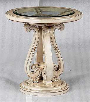 Benetti's Italia Furniture Rosabella 26'' Round End Table BFROSABELLAENDTABLE