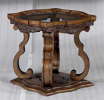 Benetti's Italia Furniture Violetta 28'' Square End Table BFVIOLETTAENDTABLE