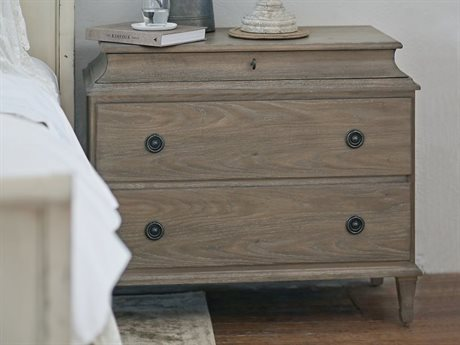 Bernhardt Auberge Weathered Oak 3 Drawers Nightstand BH351033A