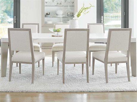Bernhardt Axiom Linear Gray / White 82'' Wide Rectangular Dining Table BH381222