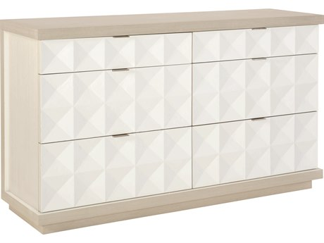 Bernhardt Axiom Linear Gray / White 6 Drawers Double Dresser BH381056