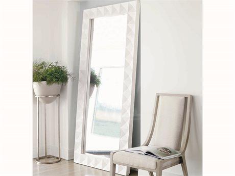 Bernhardt Axiom Linear White Floor Mirror BH381344
