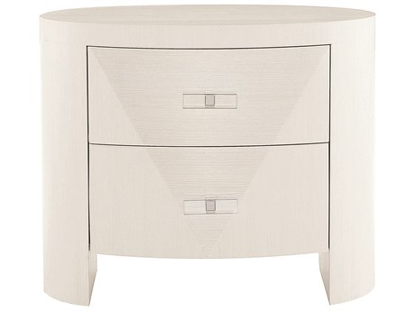 Bernhardt Axiom Linear White 2 Drawers Nightstand BH381213