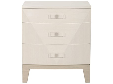 Bernhardt Axiom Linear Gray / White 3 Drawers Nightstand BH381228