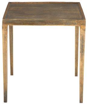Bernhardt Benson Vintage Brass 22'' Wide Rectangular End Table