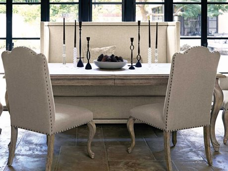 Bernhardt Campania Weathered Sand 86'' Wide Rectangular Dining Table
