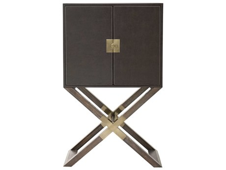 Bernhardt Clarendon Arabica / Burnished Brass Bar Cabinet BH377840