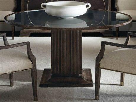 Bernhardt Clarendon Arabica / Clear 60'' Wide Round Dining Table BH377772T