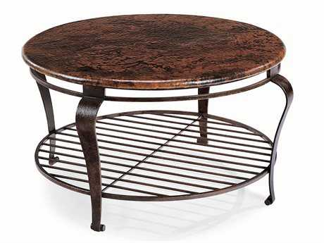 Bernhardt Clark Dark Brown With Black Undertones Round Coffee Table BH477016
