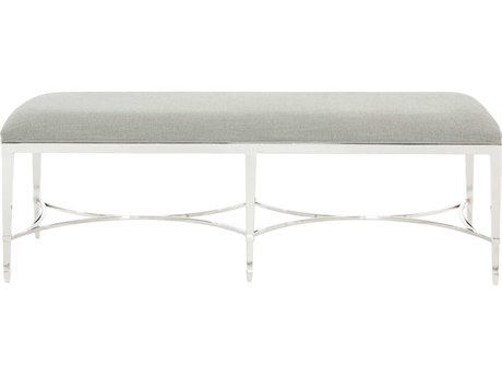 Bernhardt Criteria Radiant Nickel Accent Bench