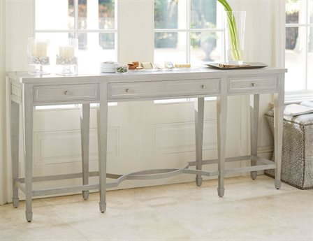 Bernhardt Criteria Heather Gray 78'' Wide Rectangular Console Table