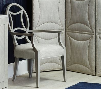 Bernhardt Criteria Heather Gray Dining Arm Chair