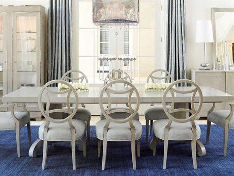 Bernhardt Criteria Heather Gray 86'' Wide Rectangular Dining Table BH363242T