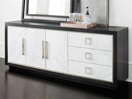 Bernhardt Decorage Cerused Mink / Silver Mist / Snowflake Marble Laminate Buffet BH380132