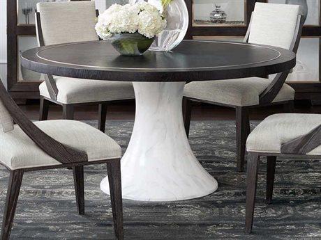 Bernhardt Decorage Cerused Mink / Silver Mist 60'' Wide Round Dining Table BHK1081