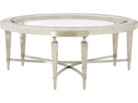 Bernhardt Domaine Blanc Dove White 44'' Wide Round Coffee Table