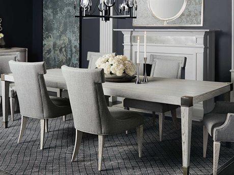 Bernhardt Domaine Blanc Dove White / Tarnished Nickel 88'' Wide Rectangular Dining Table BH374222