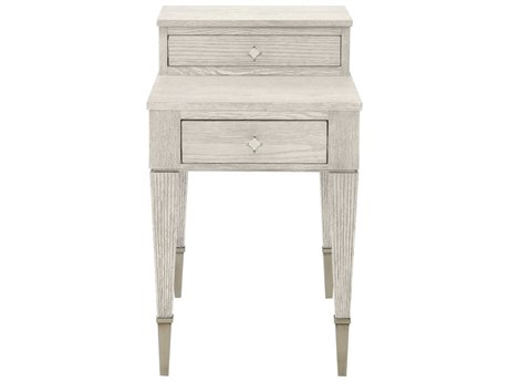 Bernhardt Domaine Blanc Dove White 18'' Wide Rectangular End Table