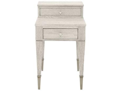 Bernhardt Domaine Blanc Dove White 18'' Wide Rectangular End Table BH374121