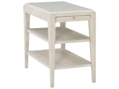 Bernhardt Domaine Blanc Dove White 16'' Wide Rectangular End Table BH374124T