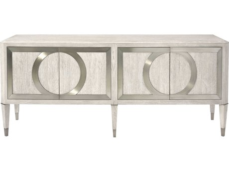 Bernhardt Domaine Blanc Dove White / Tarnished Nickel TV Stand BH374870