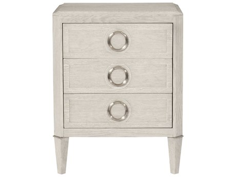Bernhardt Domaine Blanc Dove White 3 Drawers Nightstand BH374214