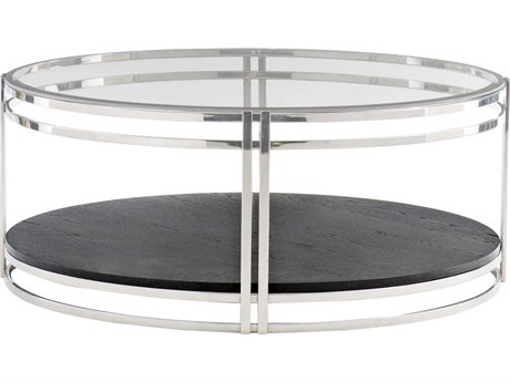 Bernhardt Freestanding Occasional Chrome / Cerused Mink 44'' Wide Round Coffee Table BH441015