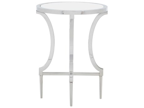 Bernhardt Freestanding Occasional Silver / Clear 18'' Wide Round End Table