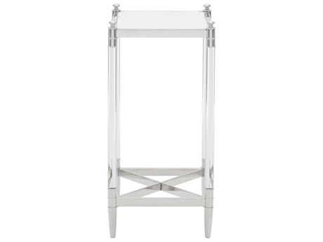 Bernhardt Freestanding Occasional Silver / Clear 12'' Wide Rectangular End Table