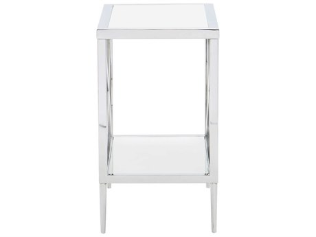 Bernhardt Freestanding Occasional Silver / Clear 14'' Wide Rectangular End Table