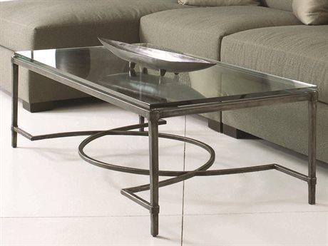 Bernhardt Interiors Blackened Gray / Clear 56'' Wide Rectangular Coffee Table BH320021T