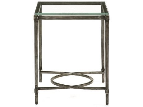 Bernhardt Interiors Blackened Gray / Clear 20'' Wide Rectangular End Table BH320121T