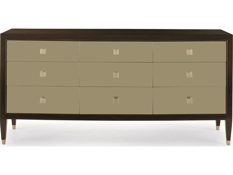 Bernhardt Interiors Ebonized / Champagne White Gold 8 Drawers and up Triple Dresser BH340052