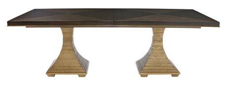 Bernhardt Jet Set Caviar / Gold 90'' Wide Rectangular Dining Table BH356242C
