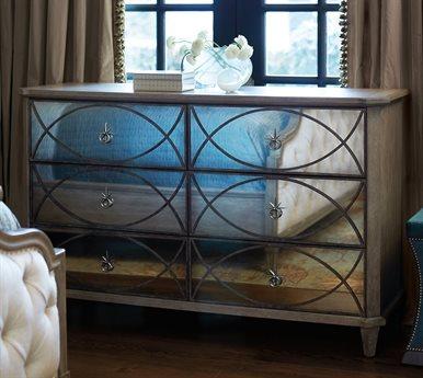 Bernhardt Marquesa Gray Cashmere Double Dresser 6 Drawers BH359044N