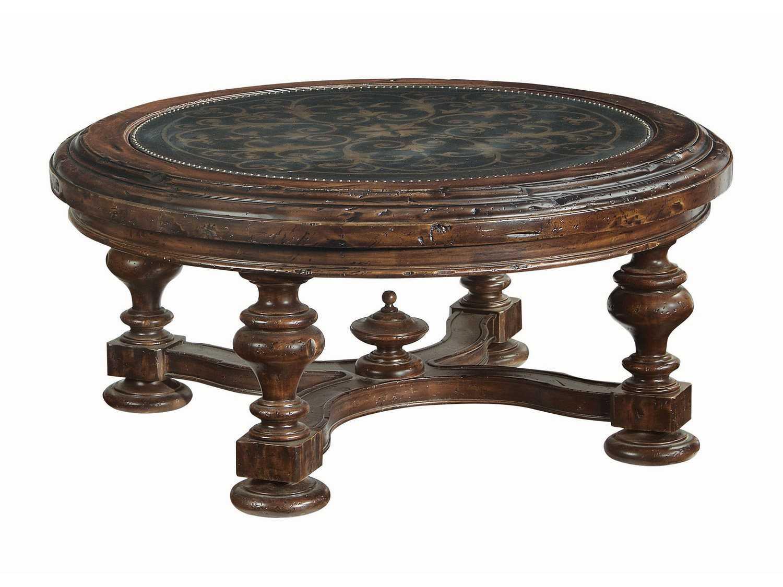 Marvelous Bernhardt Marquis Dark Brown Round Coffee Table Theyellowbook Wood Chair Design Ideas Theyellowbookinfo