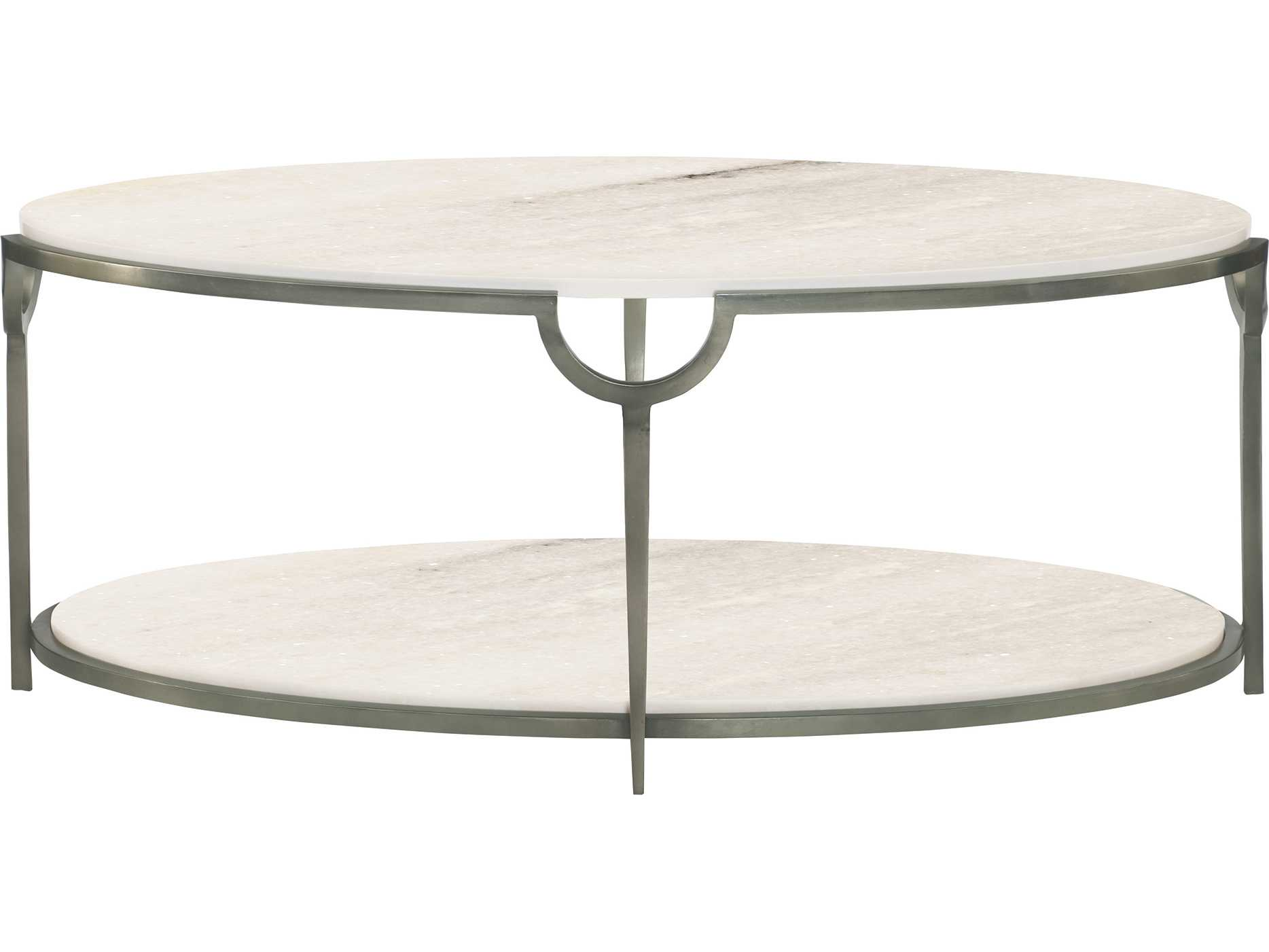 Fine Bernhardt Morello Faux Carrar Marble With Oxidized Nickel Oval Coffee Table Theyellowbook Wood Chair Design Ideas Theyellowbookinfo