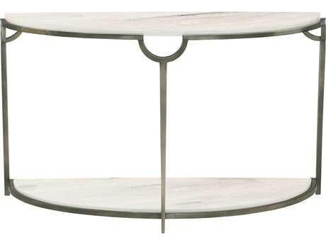 Bernhardt Morello Faux Carrar Marble with Oxidized Nickel Demilune Console Table BH469913