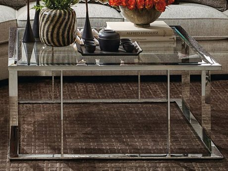 Bernhardt Newton Stainless Steel 44'' Wide Square Coffee Table