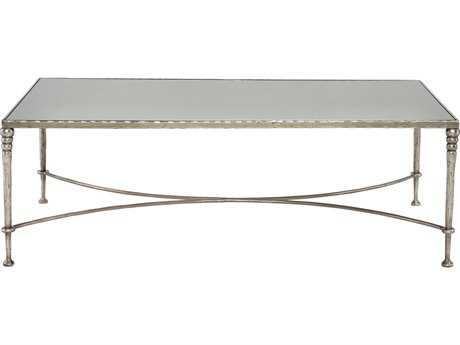 Bernhardt Orleans Silver Leaf Rectangular Coffee Table