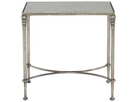 Bernhardt Orleans Silver Leaf Rectangular End Table BH412121