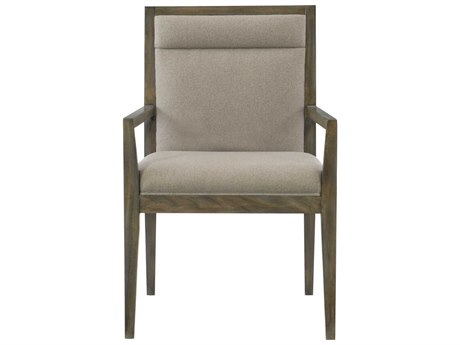 Bernhardt Profile Warm Taupe Arm Dining Chair BH378566
