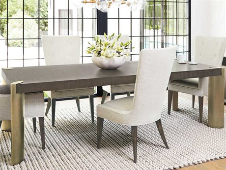 Bernhardt Profile Warm Taupe / Tapestry Gold 80'' Wide Rectangular Dining Table BH378222