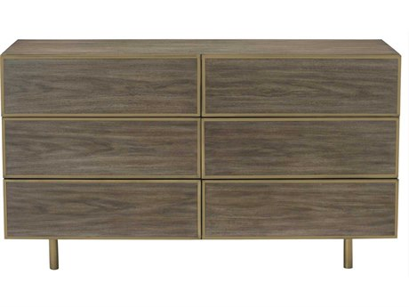 Bernhardt Profile Warm Taupe 6 Drawers Double Dresser BH378050